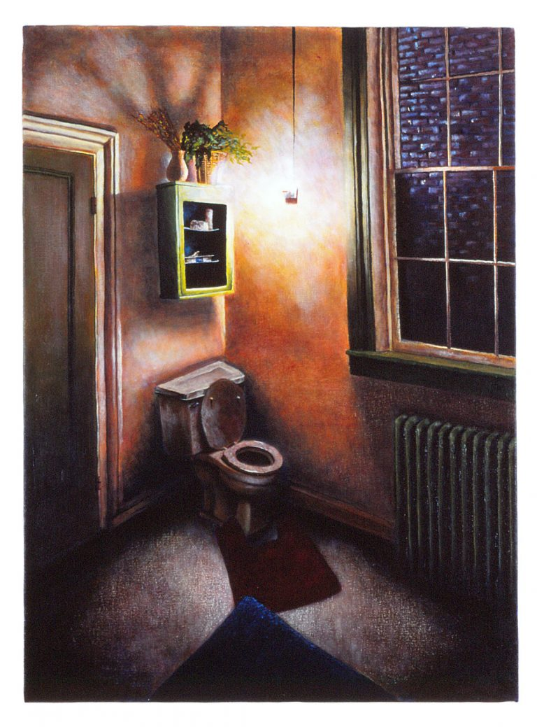 "Home: Bathroom (22"" x 30"" , acrylic on canvas)"