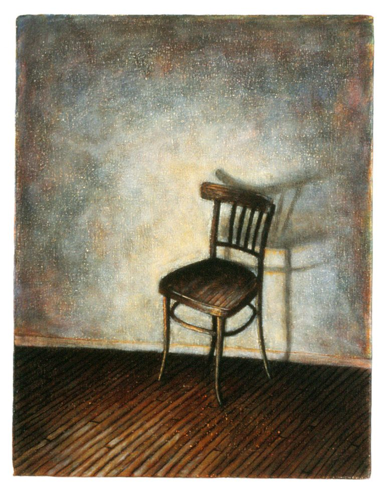 "Home: Chair (11"" x 14"" , acrylic on canvas)"